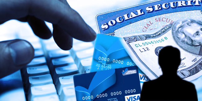 Graphic with twenty dollar bill and social security card