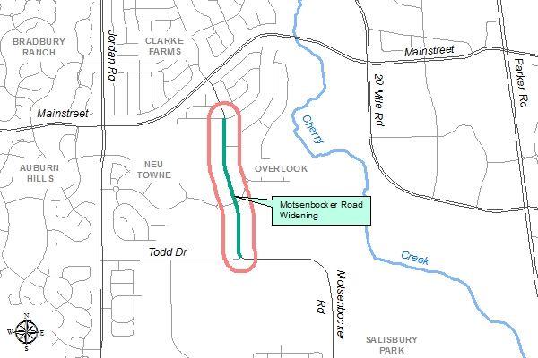 Motsenbocker Road Widening Project Map
