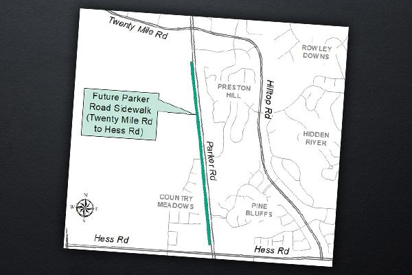 Parker Road Multi-Use Trail/Sidewalk Project Map