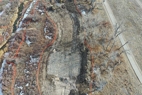 Cherry Creek at KOA Property Stream Restoration Project Map