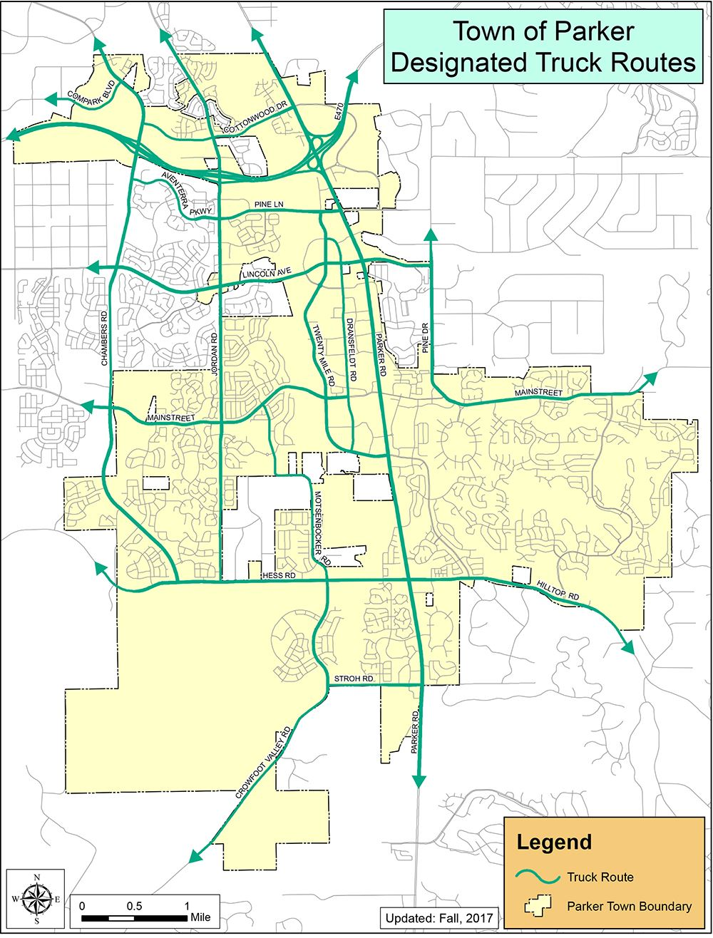 Town of Parker Truck Routes Map